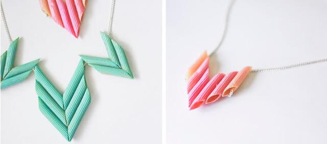 DIY penny pasta necklace 1