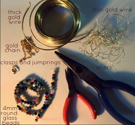 DIY perched harmonies necklace materials
