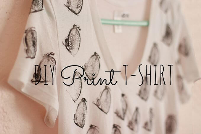Transform a white plain shirt into a DIY project that's unique and cheap.