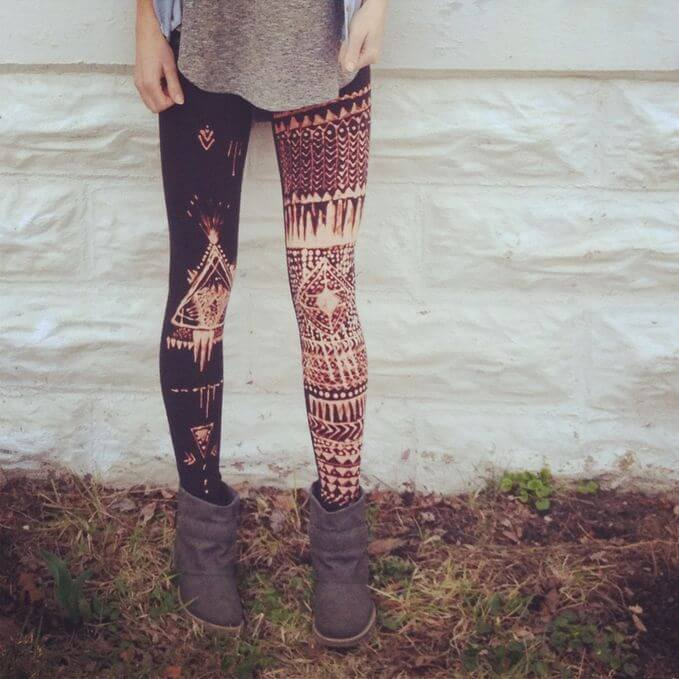 Make ordinary leggins unique and funky with this DIY look.