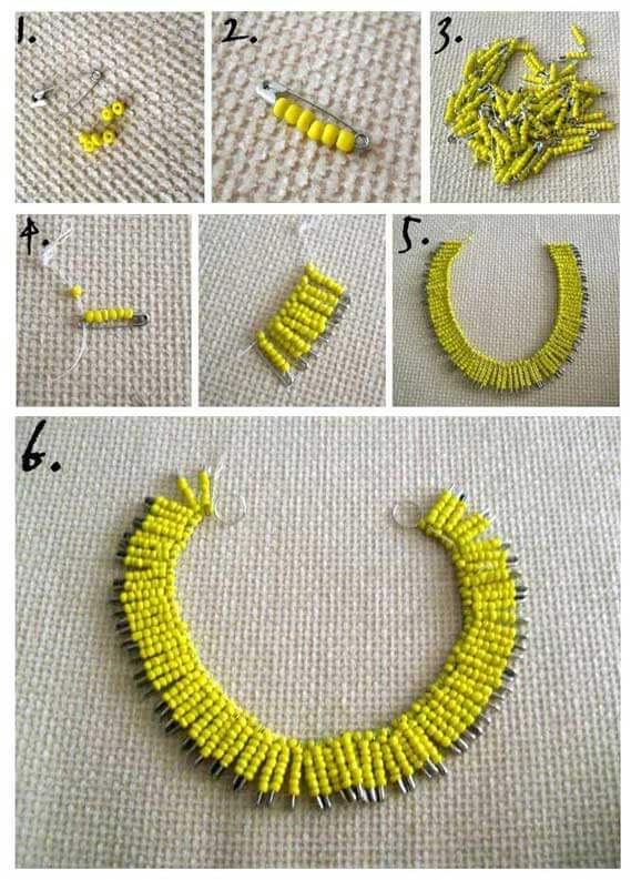 DIY statement necklace 1