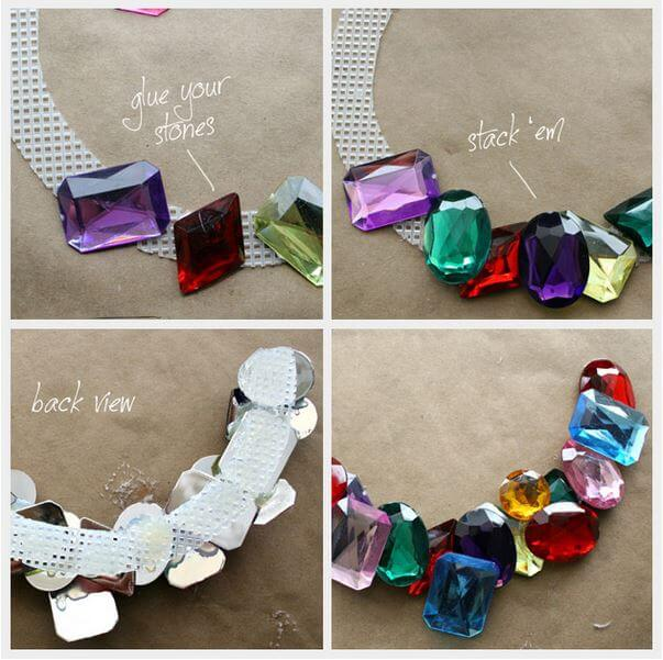 DIY stone wrapped necklace 2