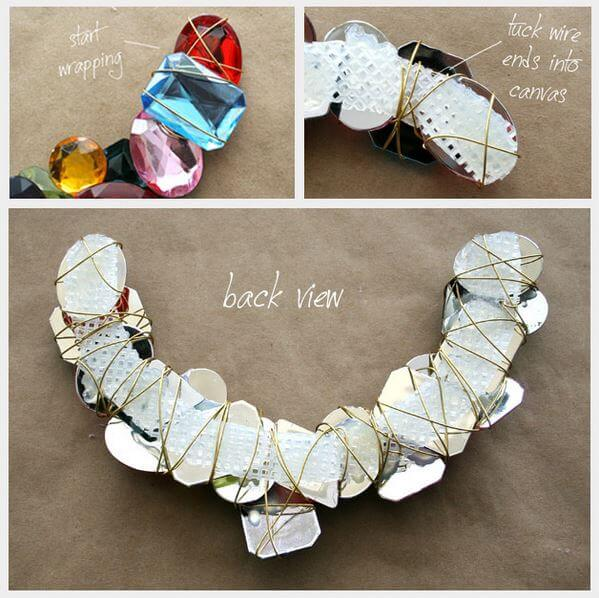 DIY stone wrapped necklace 3