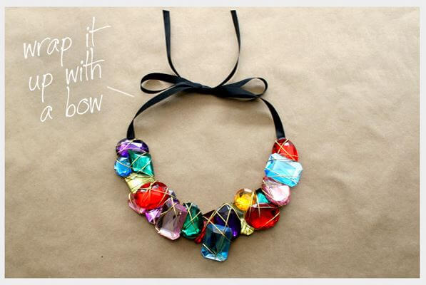DIY stone wrapped necklace 4