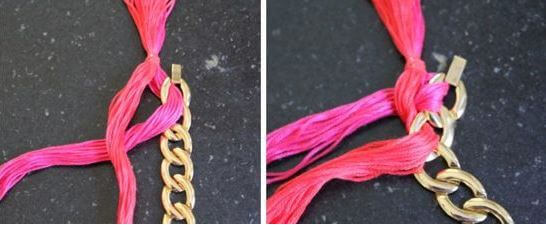 DIY woven chain necklace 2