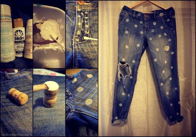Pimped up denim jeans