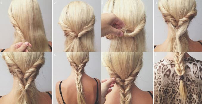 A ponytail divided into sections to create a lovely look