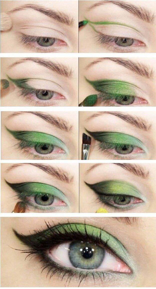 If you're feeling frisky then try this green cat eye to get that unique look instead of the classic cat eye.
