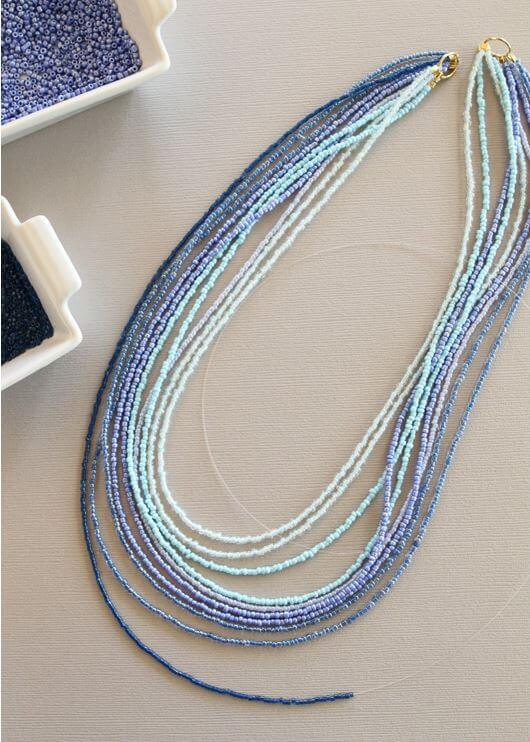 Ombre seed bead necklace 3