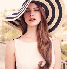 Achieve this Lana Del Rey look with this striped hat.