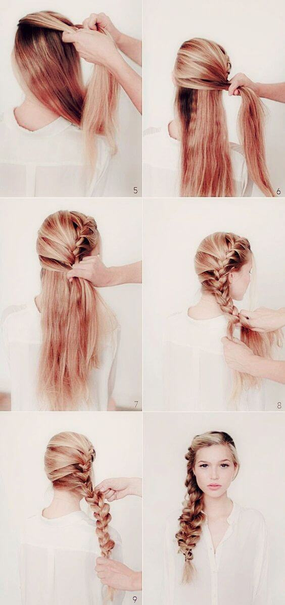 Look like Queen Elsa from Frozen in this fun and loose side braid.