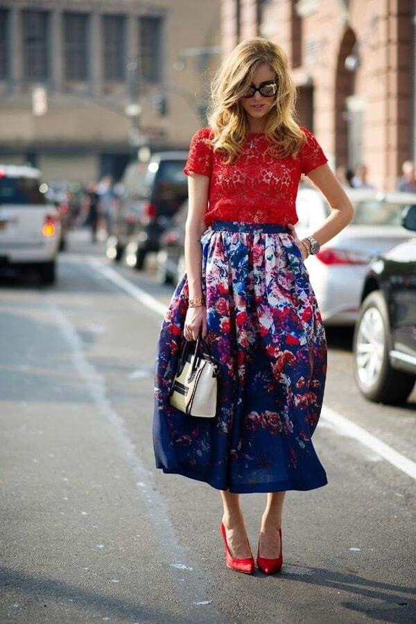 A great idea for a spring outfit is mixing two completely different prints.
