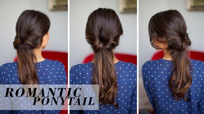 Model's style is a romantic ponytail