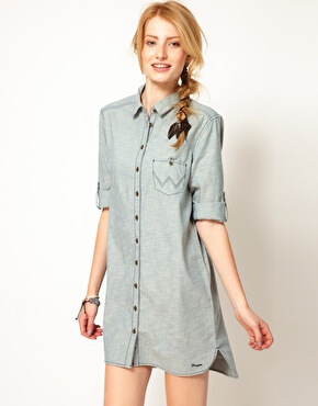 Model looks sassy in a simple shirt-dress and a bracelet but a braid do signals a good start of the week