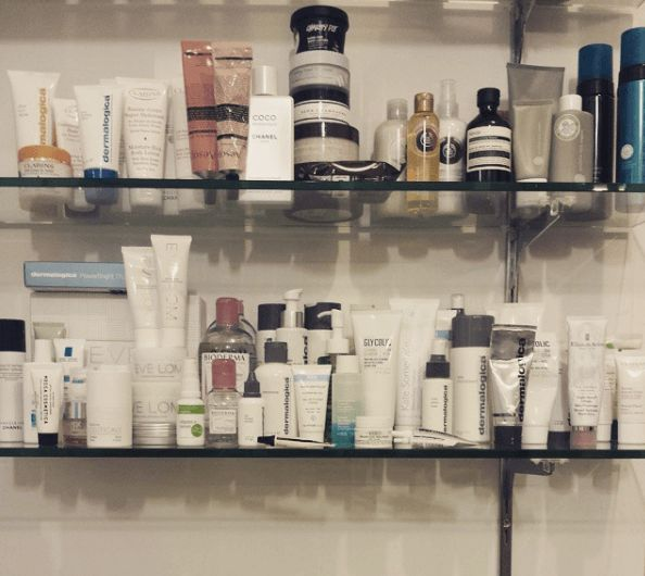 A surplus of skincare products
