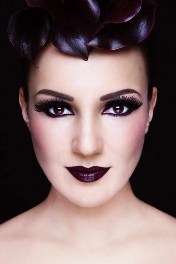 If you are into vampires and the goth realm, this makeup idea is best for a Halloween.