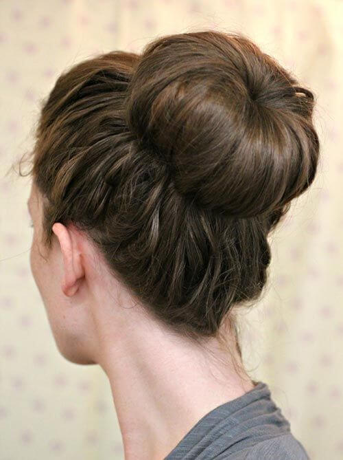 This look is more of a natural bun but more elegant