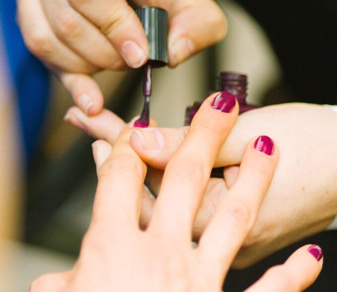 Polishing nails, adding nice colors
