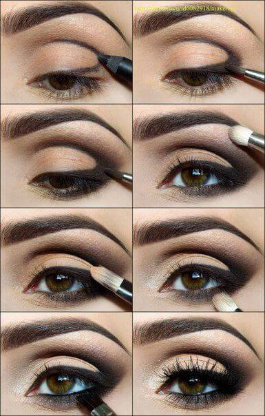Create natural smudgy effect with darker eyes.