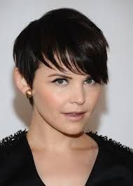 A very short cut with bangs