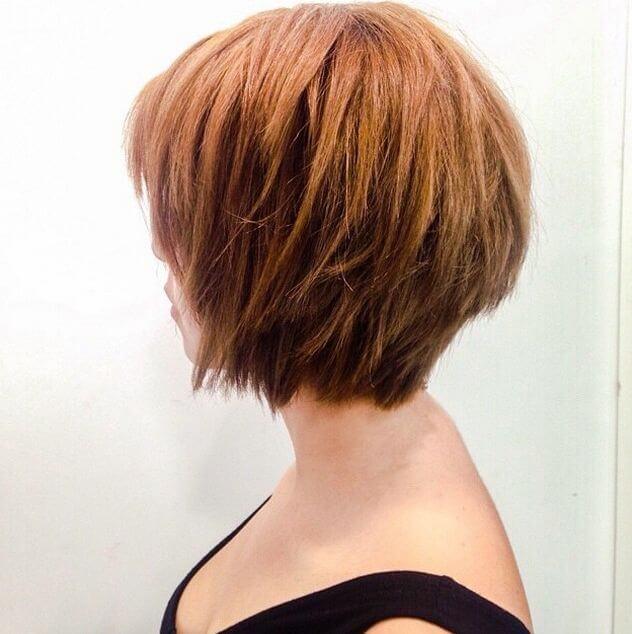 Short choppy layers of hair