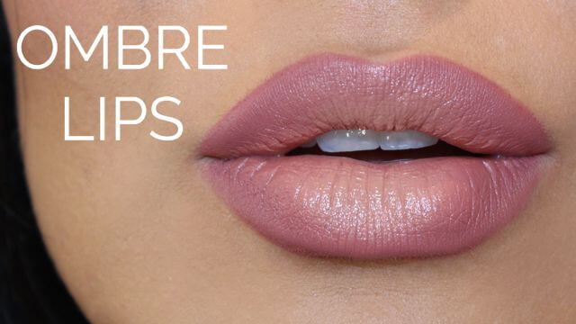 Ombre lips have a graduation from dark to light and are so the in thing.