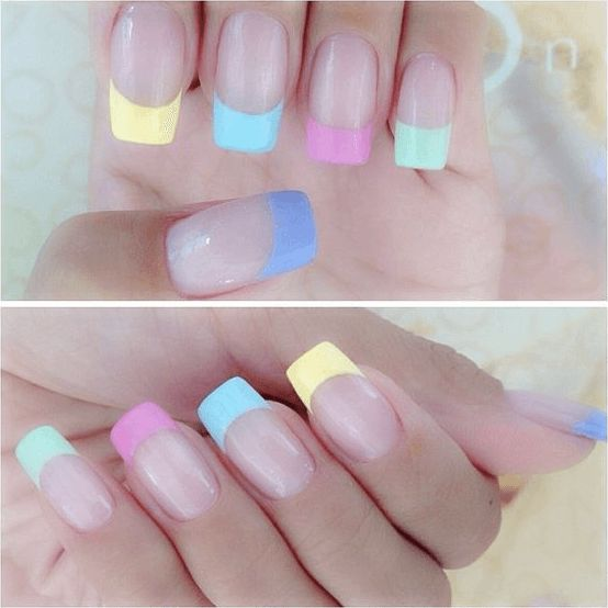 Different pastel colored tips