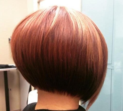 Short layers are added in the middle of the back of head for a bouffant look