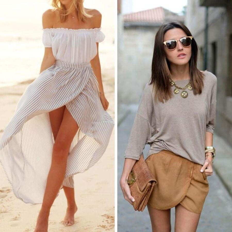 Wrap skirt outfit ideas