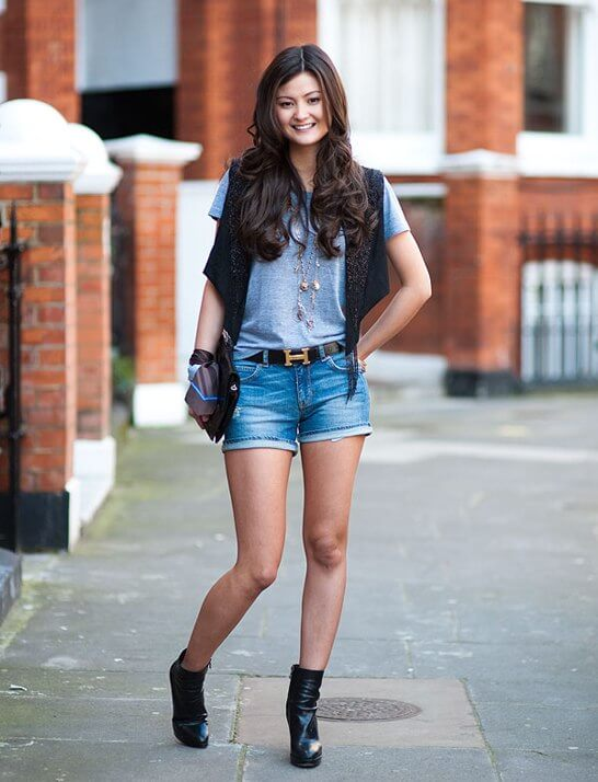 It doesn't get more classic than blue denim shorts.