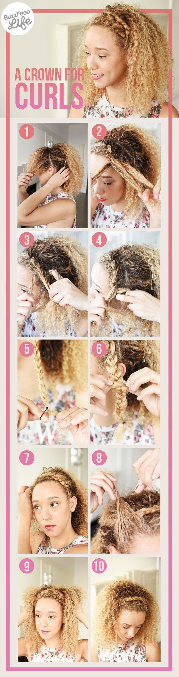 Crown braids are quick and stylish.