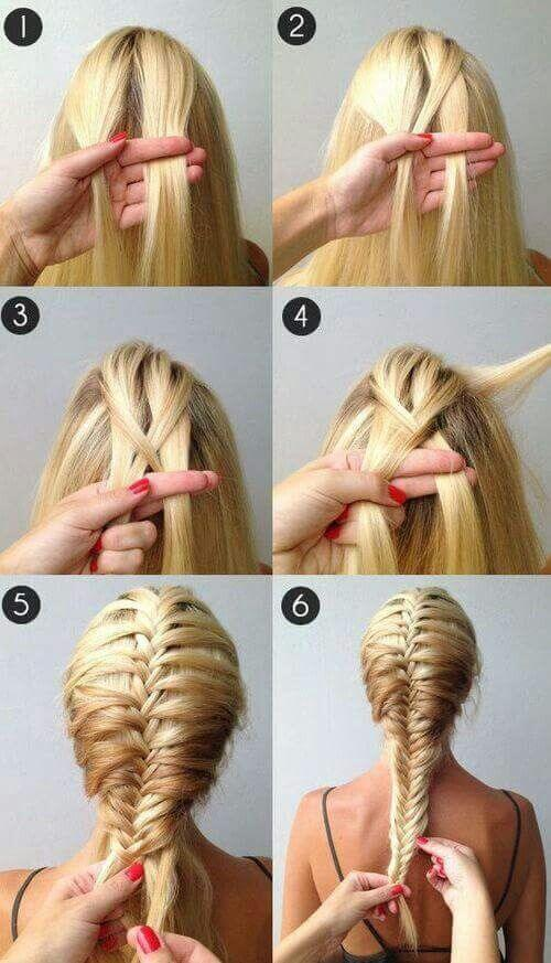 A step-by-step instruction to do an easy fishtail braid