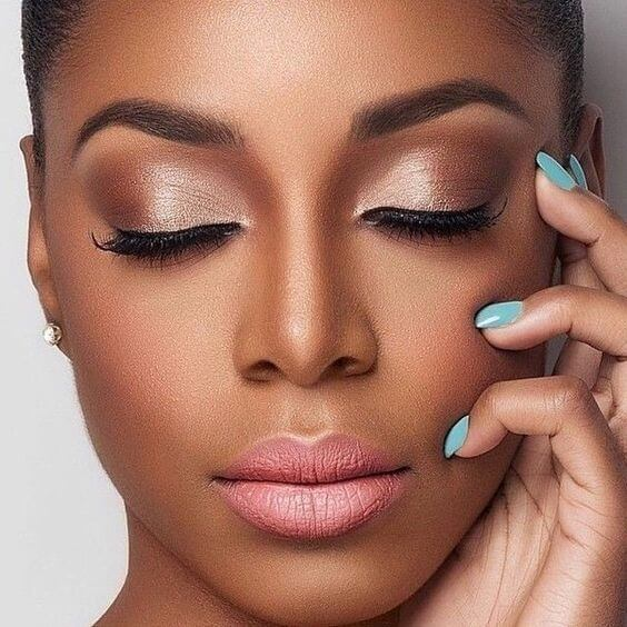 Beautiful face and beautiful makeup