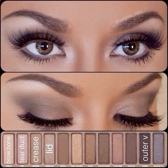 Brown smoky eye palette