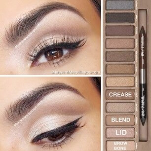 Cut crease eyeshadow look