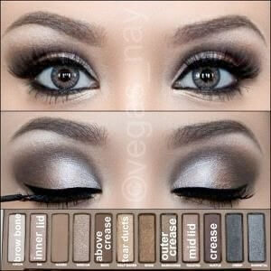 Dramatic smoky eye palette