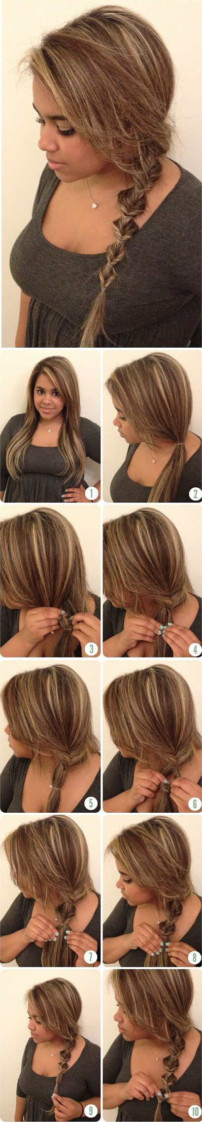 easy step-by-step sectioned braid