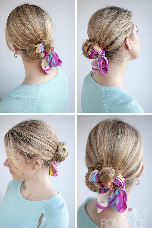 Get more use out of your scarves by incorporating them into your braid.