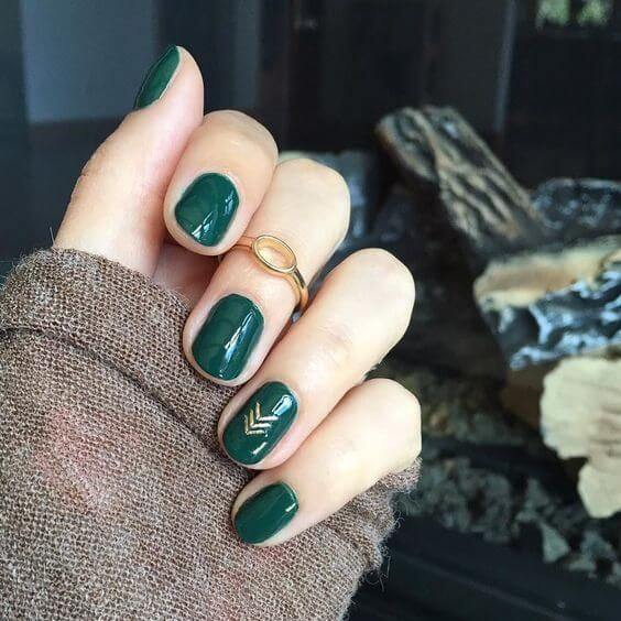 The combination of green and gold just screams fall.