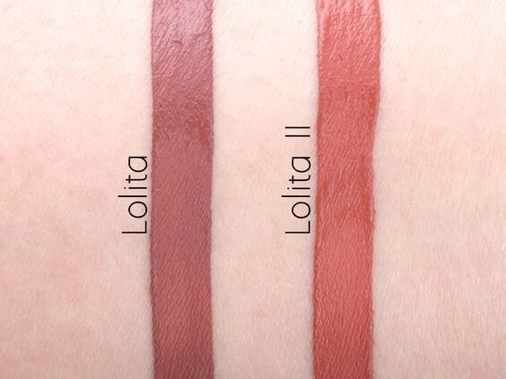 The two 'Lolita' shades have slightly different hues to cater to a variety of skin tones.