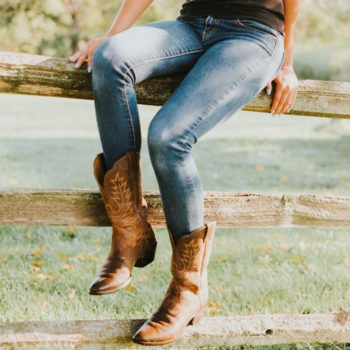 Beautiful legs with perfectly matching jeans