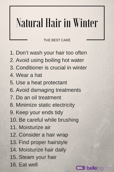 A summary of winter hair care tips.