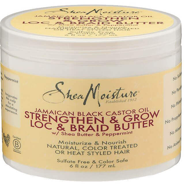 tub of Shea Moisture moisturizing butter