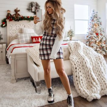 Women is looking for a best winter outfit