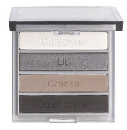 An eyeshadow quad will help you place your eyeshadow.