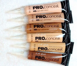 LA Pro Concealer in six different shades