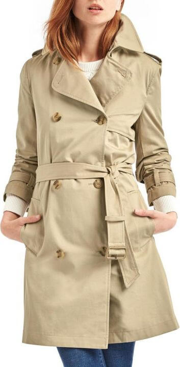 Trench coat with bigger lapels.