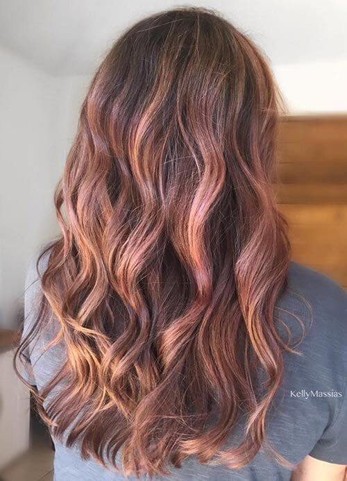 25 best hairstyle ideas for brown hair with highlights belletag light brown hair with rose gold highlights pmusecretfo Gallery