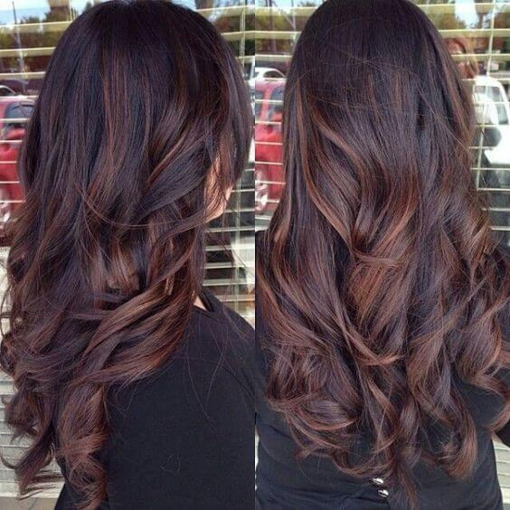 Chocolate brown hair with auburn highlights hairs picture gallery chocolate brown hair with auburn highlights image urmus Gallery