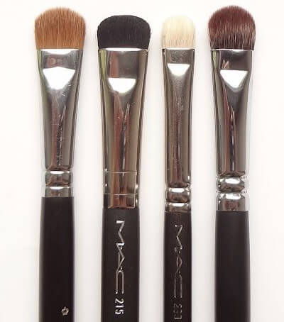 four M.A.C. eyeshadow brushes